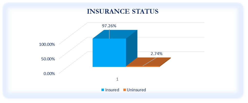 Insurance Status of Respondents - October to December 2020 Survey